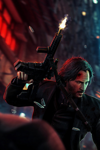 480x800 John Wick Chapter 3 Art