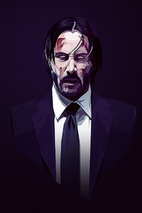 1440x2960 John Wick New Artwork