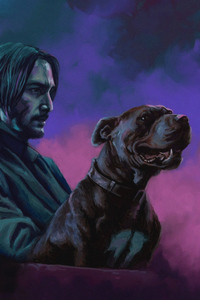 John Wick With Dog