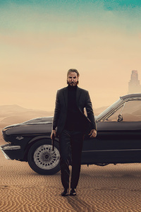 John Wick With Mustang