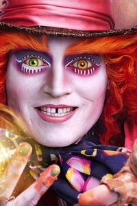 1080x2160 Johnny Depp Alice Through The Looking Glass