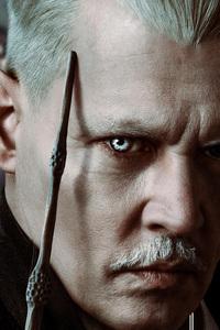 1080x2160 Johnny Depp As Gellert Grindelwald In Fantastic Beasts The Crimes Of Grindlewald