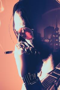 480x800 Johnny Silverhand Cyberpunk 2077 5k