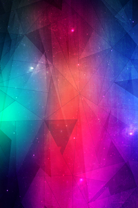 1080x2280 Joining Triangles 4k