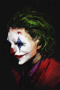 Joker 4k Face Artwork