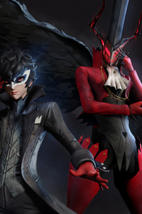 240x400 Joker And Arsene From Persona 5