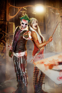 1280x2120 Joker And Harley Quinn Cosplay Photography 4k