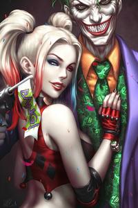480x800 Joker And Harley Quinn Love 4k