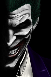 320x568 Joker Artwork 5k