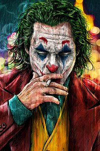 Joker Cigratte Smoking Artwork