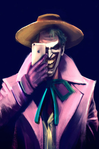 Joker Clicking Photos With Iphone