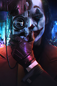 Joker Clicking Pictures