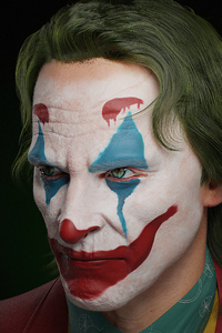 Joker Closeup Digital Art