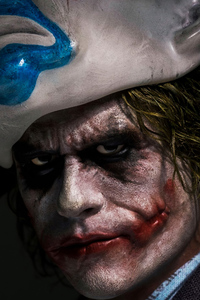 Joker Closeup Mask Up