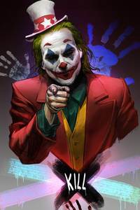 1440x2960 Joker Clown Face