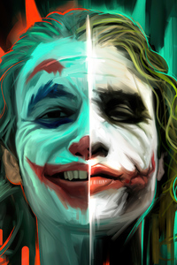 1125x2436 Joker Color Remix Poster 4k