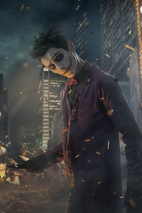 Joker Cosplay Gotham Burning