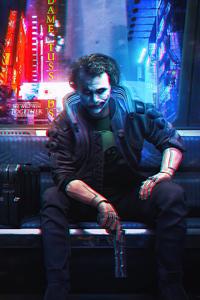 Joker Cyberpunk 4k