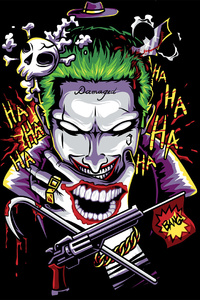 Joker Damage Art