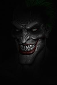 1242x2688 Joker Dark Minimalism 4k