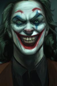 640x1136 Joker Evil Smile 4k