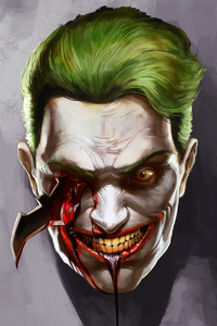 1125x2436 Joker Eye Destroyed With Batrage