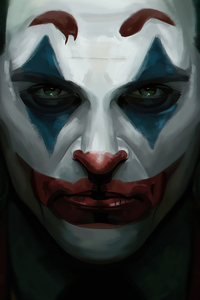 Joker Face Close Up 4k