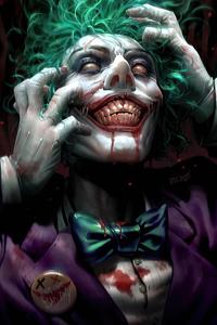 800x1280 Joker Face Closeup 4k