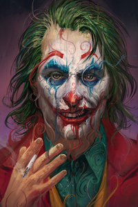 Joker Face Closeup