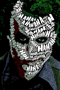 Joker Face Text Artwork
