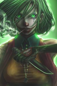 Joker Girl Art 4k
