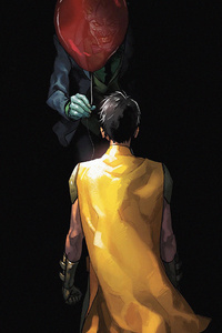 Joker Giving Balloon To Robin