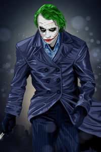 1280x2120 Joker Green Hair