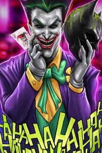 Joker Have Batman Mask