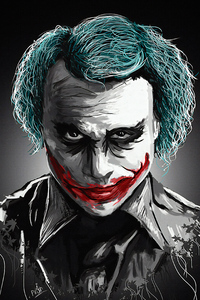 Joker Heath Ledger Art 4k