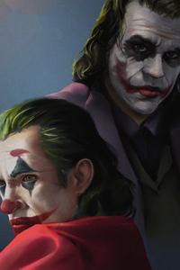 1242x2688 Joker Heath Ledger Artwork 2020