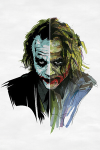 1440x2960 Joker Heath Ledger Artwork 4k