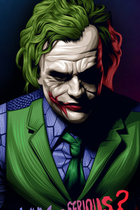 720x1280 Joker Heath Ledger Illustration