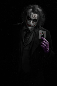 1242x2688 Joker Heath Ledger With Card 5k