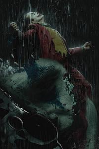 Joker In Rain 4k