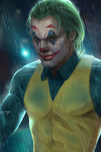 2160x3840 Joker In Rain