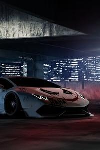 Joker Inspired Aventador