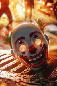 1242x2688 Joker Laughing Mask 5k
