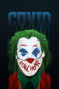 Joker Mask Stay Home 4k