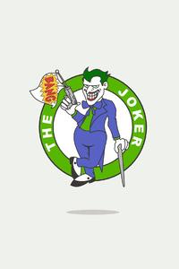 320x480 Joker Minimal Logo 4k