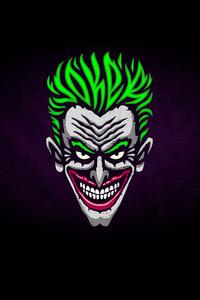 Joker Minimalist Logo 4k