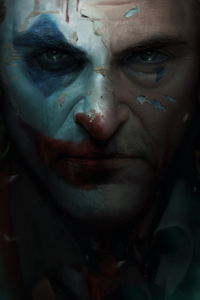 Joker Movie Closeup Art