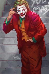 1242x2688 Joker New York Stairs
