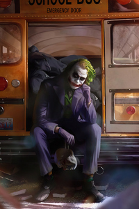 480x854 Joker Sitting Beside Bus Door 4k