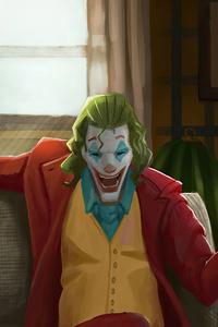 Joker Sitting On Sofa